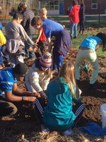 5th Grade Students Tend to the Garden