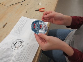 STEAM Lab-8th graders learn about electronics