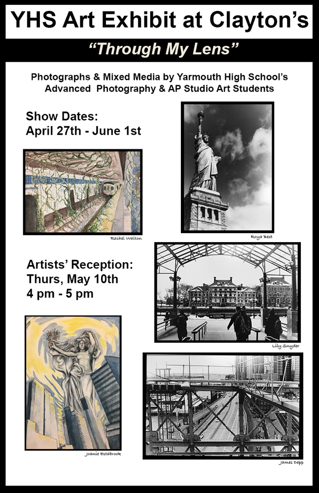 YHS Art Exhibit at Claytons - May 10th