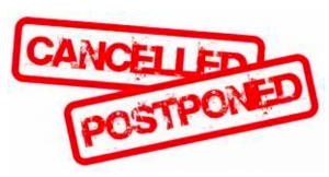 Cancelled and/or Postponed Athletic Events - 10/7/2020