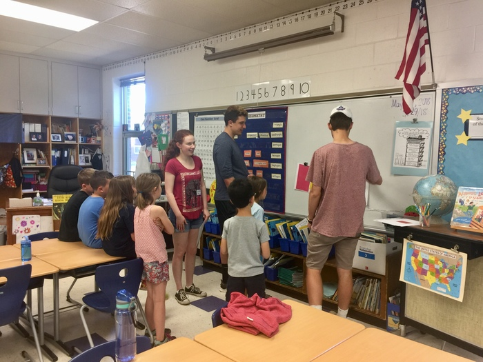 AP French Students read to second graders