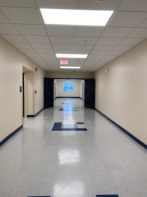 Hallway in the new addition at HMS.