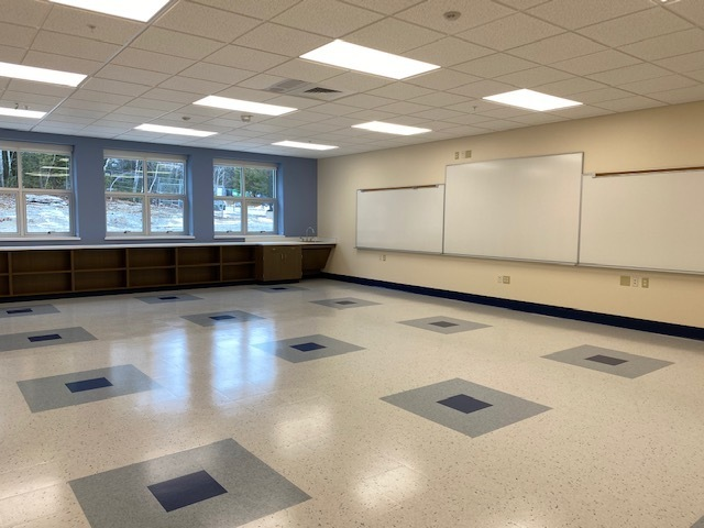 A classroom in the new addition to HMS