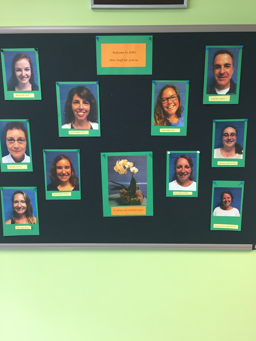 New staff bulletin board