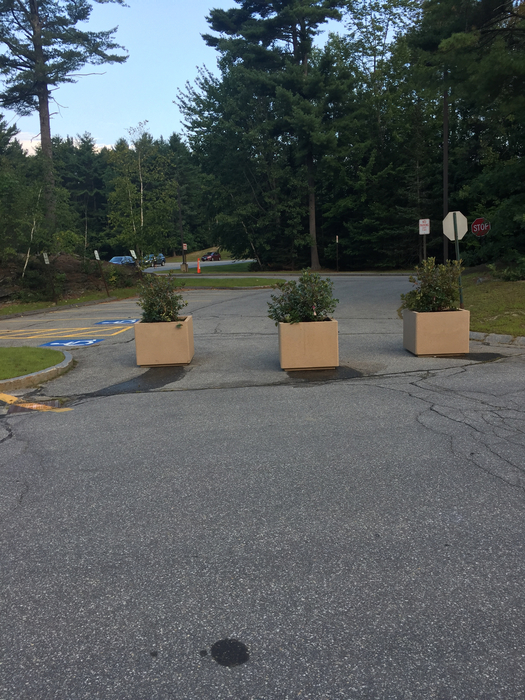 Planters are in place - please use the large loop for drop off and pick up.