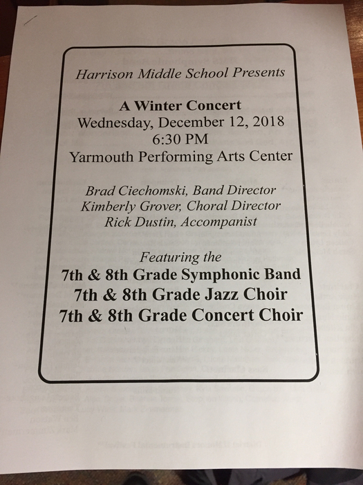 7/8th grade winter concert.