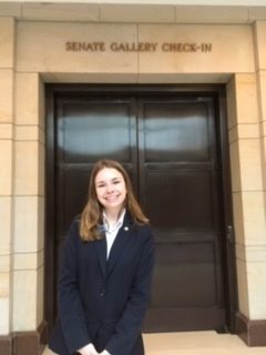 Elizabeth Ralph '20 at the Senate Page Program in Washington, DC