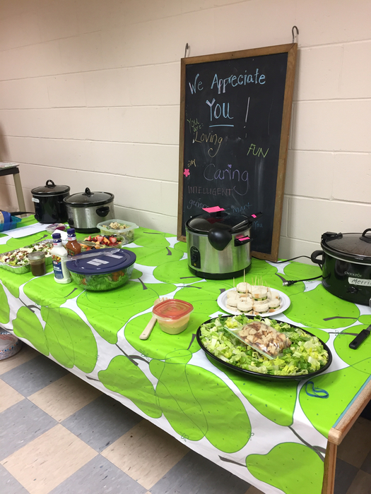 PTO teacher appreciation luncheon