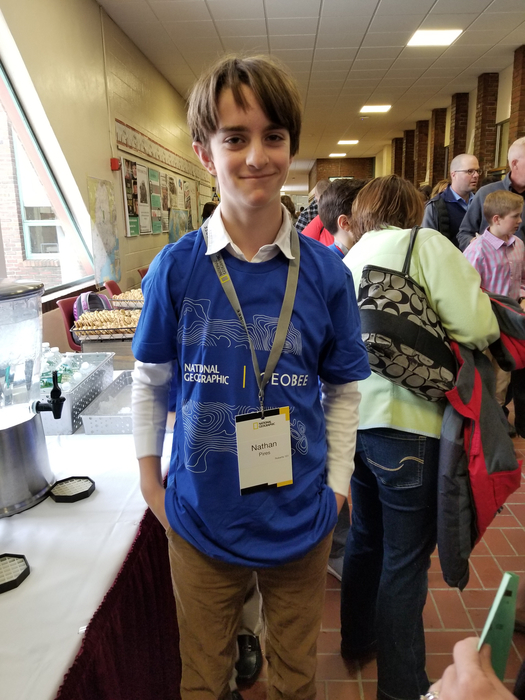 Nate Pires, Maine State Geo Bee competitor