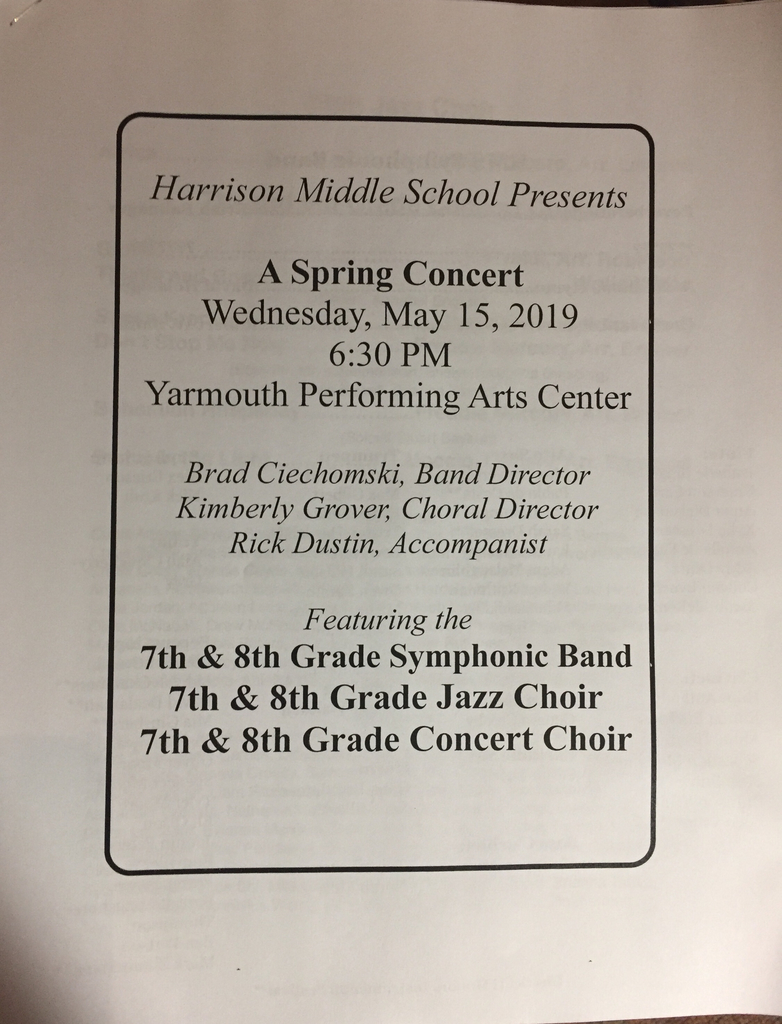 7th and 8th grade concert