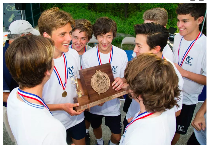 Boys Tennis Team Class B Champions