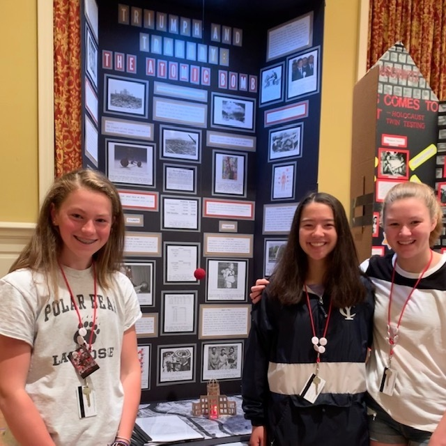Annie Bergeron, Nori Scneider, and Alex Ericson at NHD