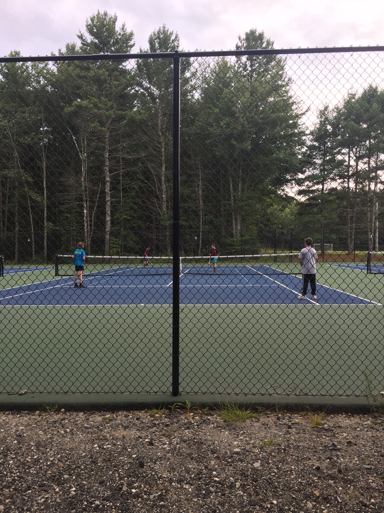 HMS tennis team in action