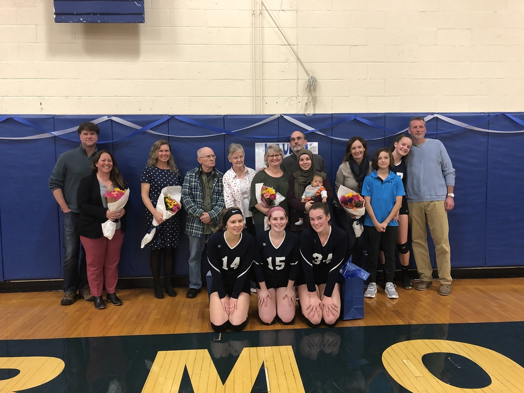 Senior Night for Yarmouth Clippers Volleyball Team