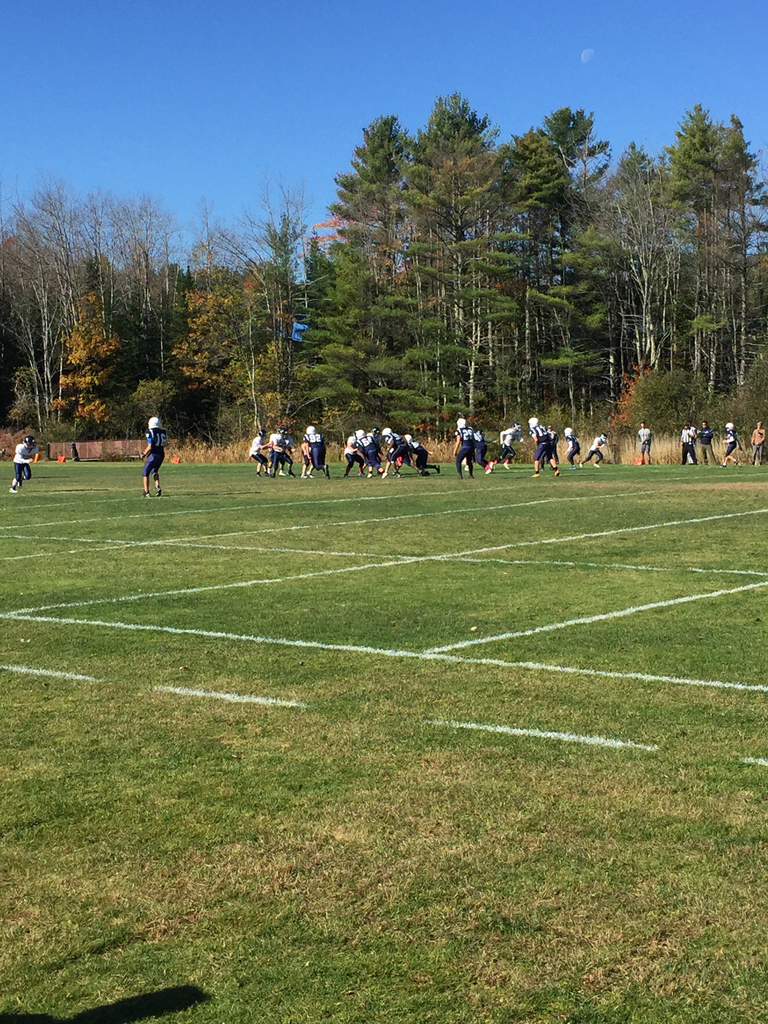 HMS Football in action against Fryeburg