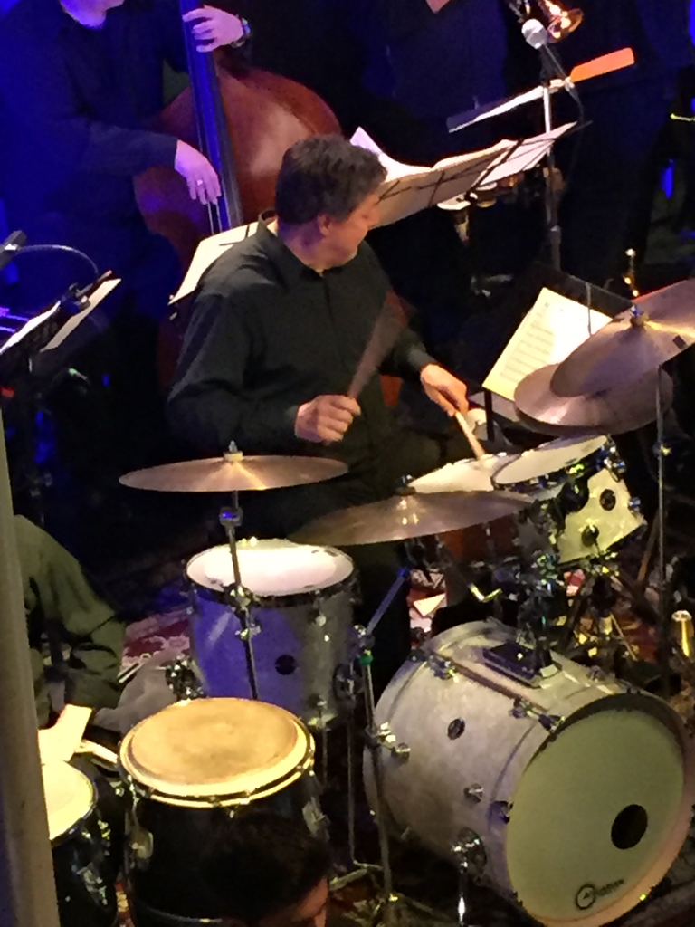Mr. Ciechomski on the drums with the PJO.