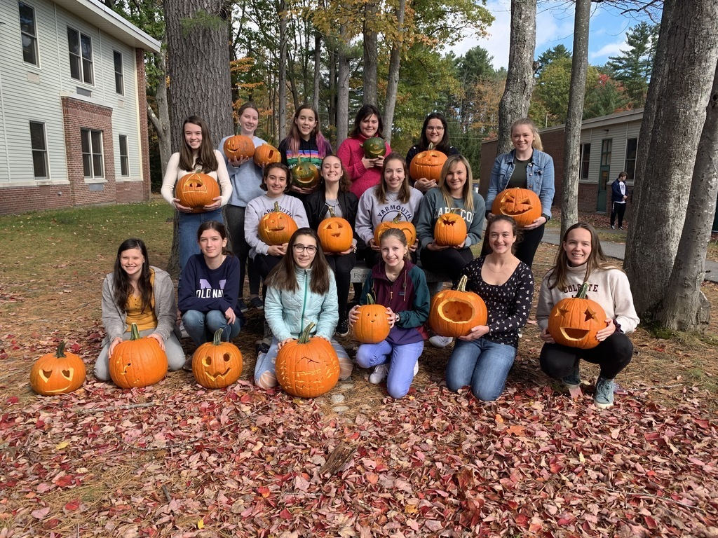 Interact club carved pumpkins for the camp sunshine pumpkin fest at LL Bean