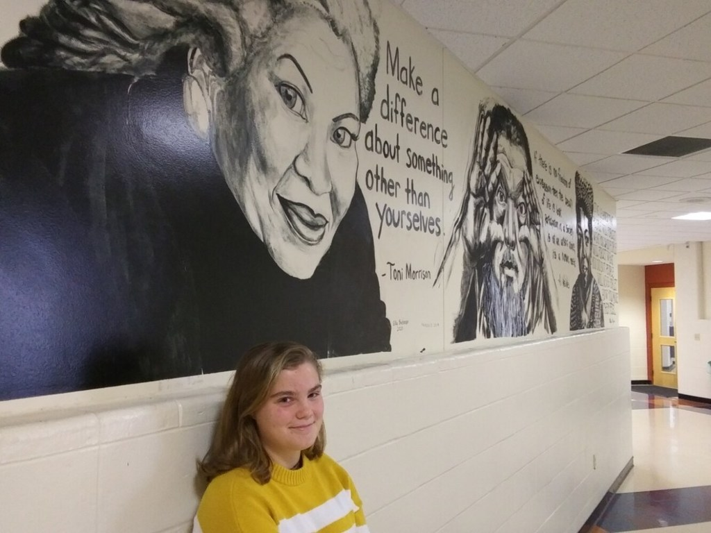 Yarmouth student's Morrison mural evokes empathy