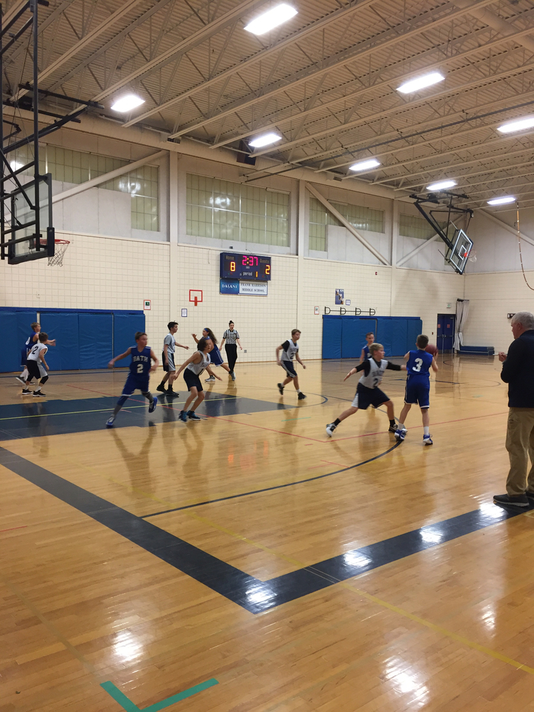 7th grade Boys'Basketball team in action today