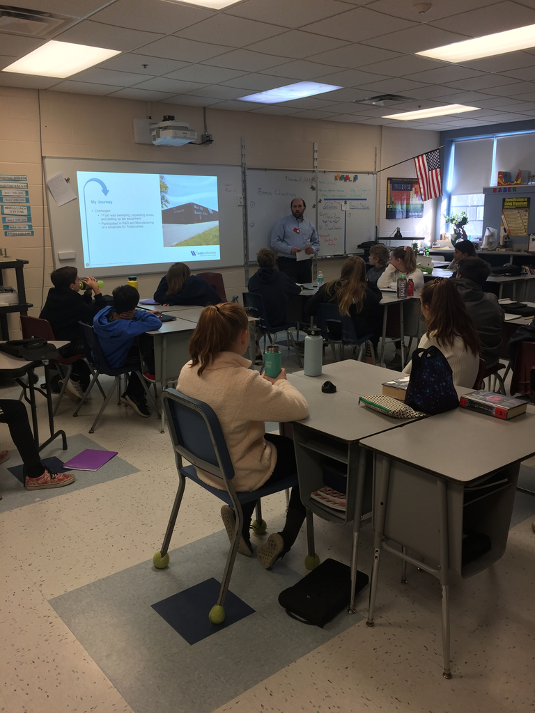 Maine Bioscience Day presentation to our 7th grade classes