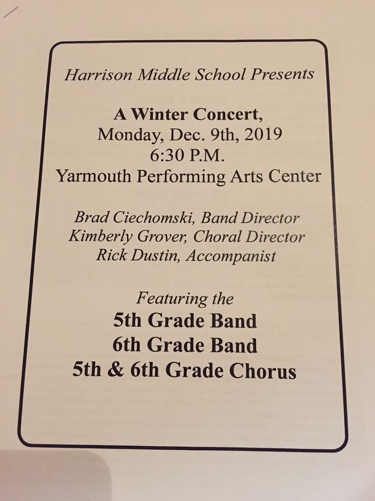 It's time for the Winter Concert!