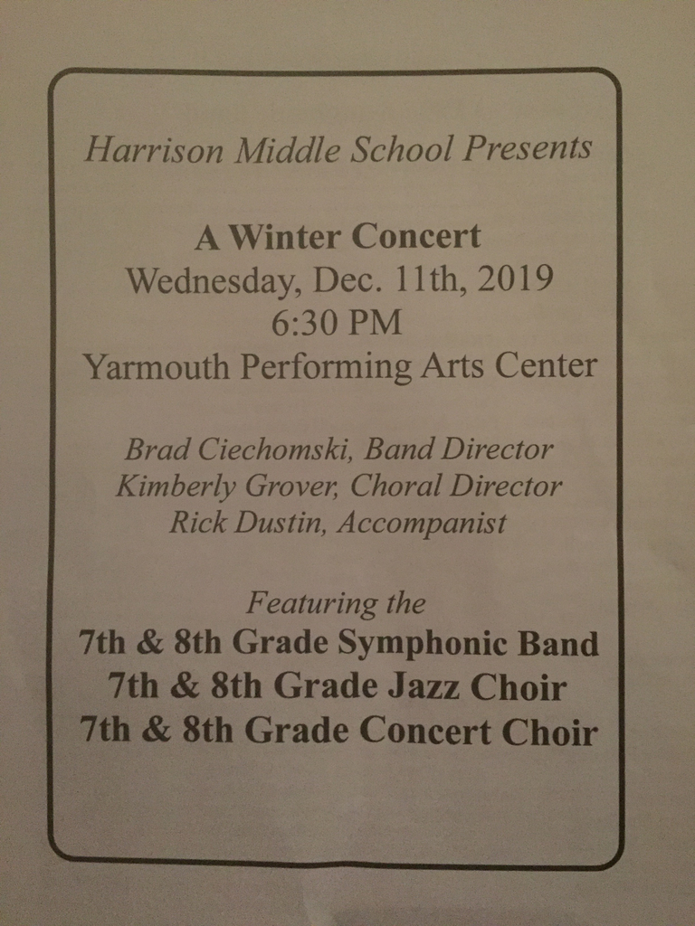 Our 7th8th grade winter concert!