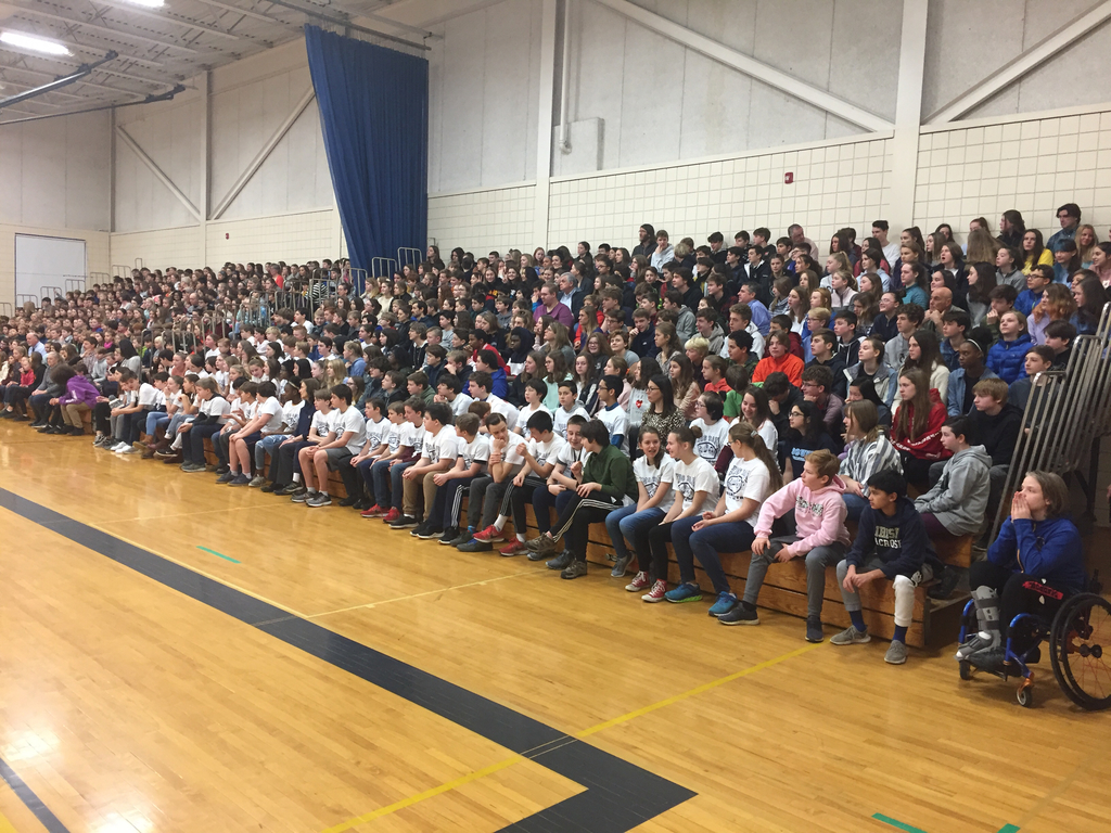 HMS students during the Welcome Assembly.