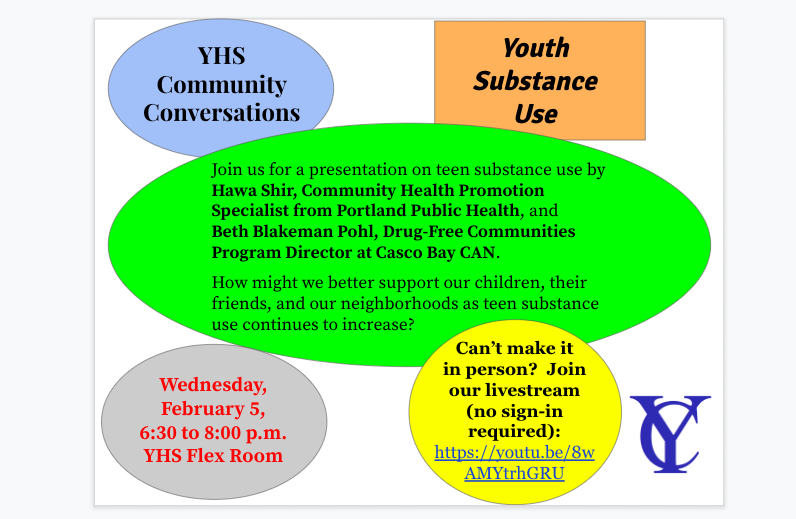 YHS Community Conversation on Youth Substance Use