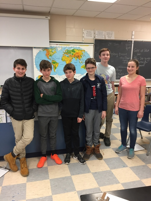 Our seven Geography Bee finalists!