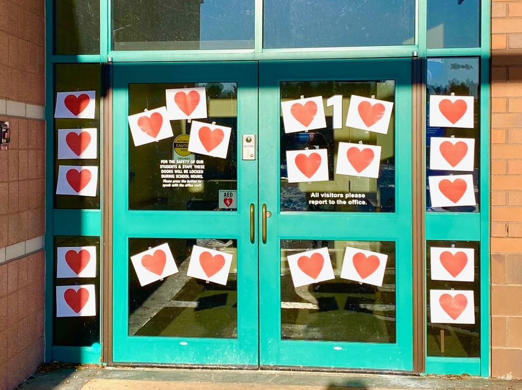 Hearts on front door