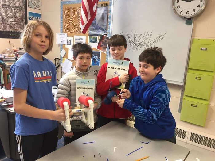 6th graders and their mechanized Sea Perch