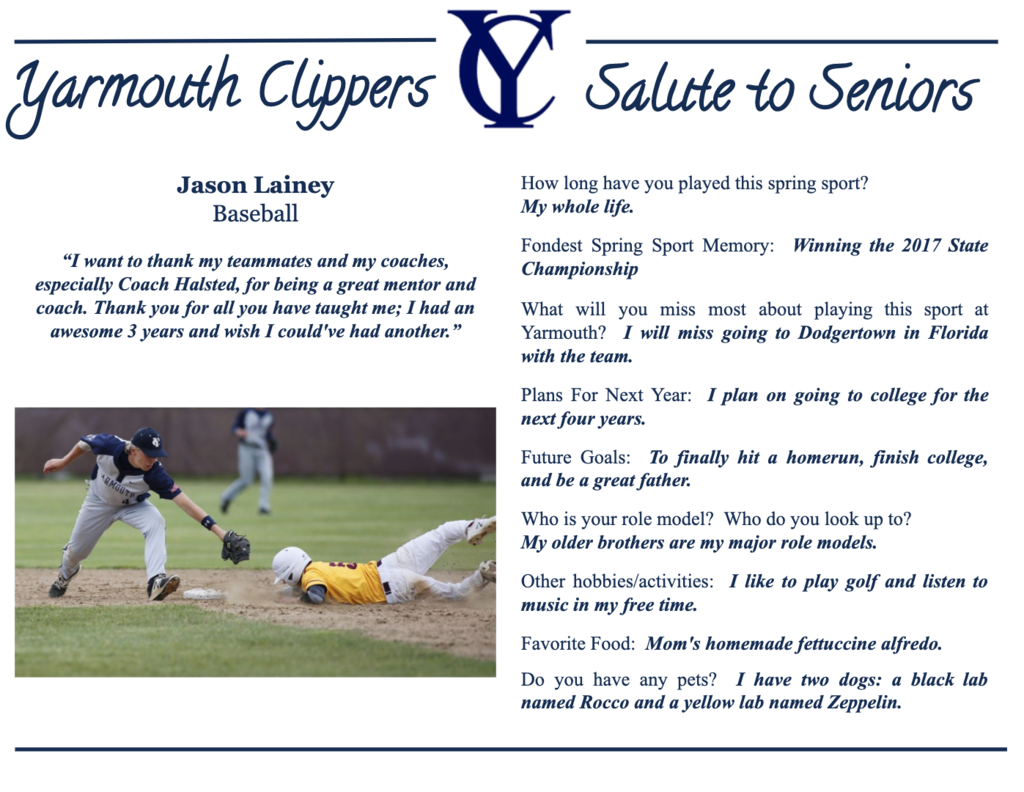 Jason Lainey Salute to Seniors Profile