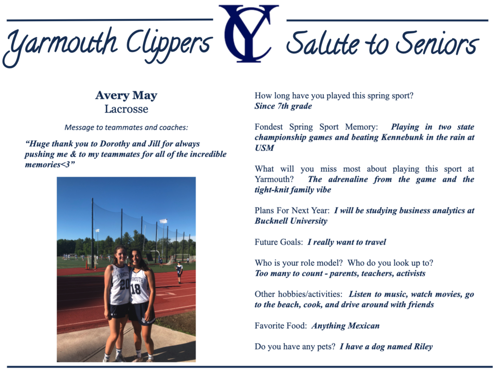 Avery May Salute to Seniors Profile