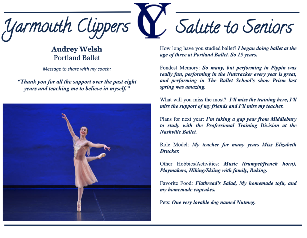 Audrey Welsh Salute to Seniors Profile