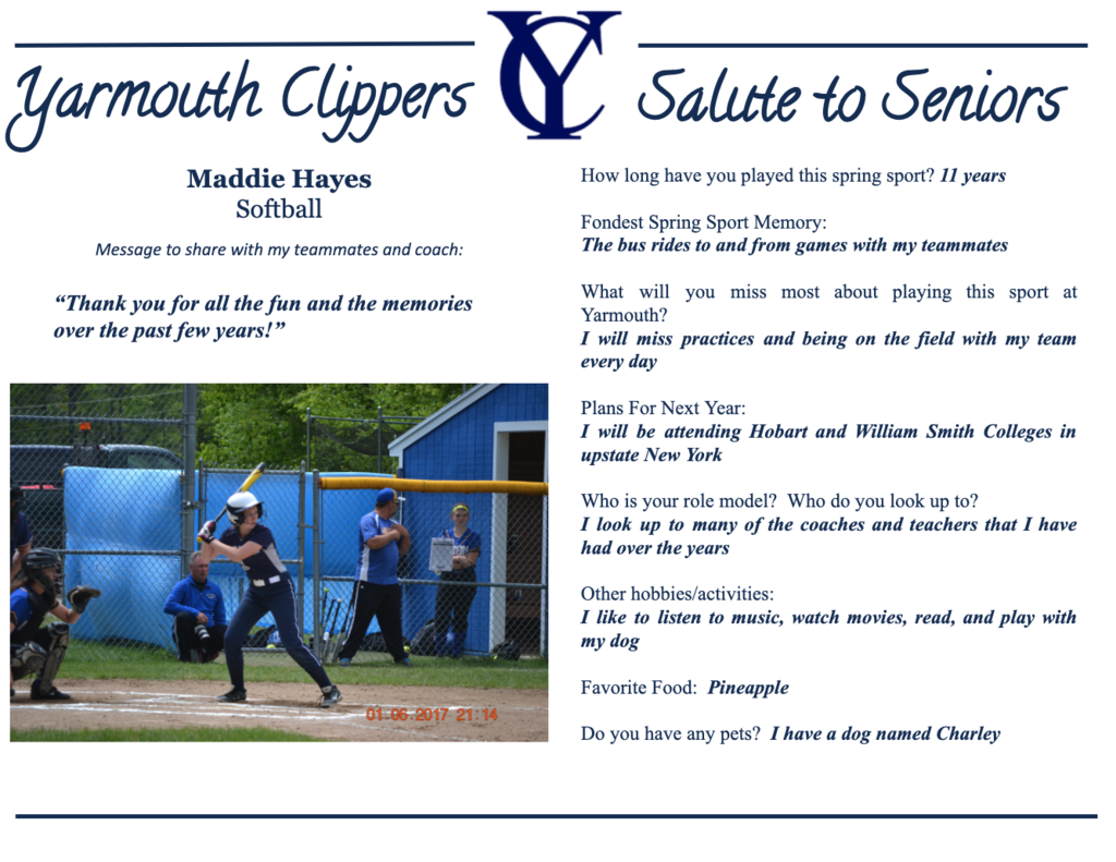 Maddie Hayes Salute to Seniors Profile