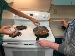 Cooking in Mrs. Lambert's class
