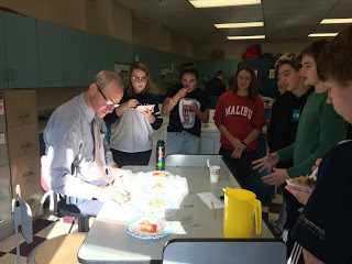 Mr. McDowell and students in Mrs. Lambert's class